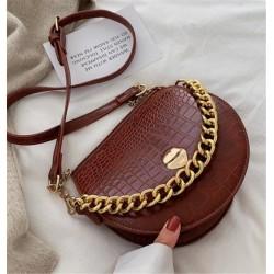 Мини сумочка кожаная Алоха Москва 3003 с золотой цепочкой