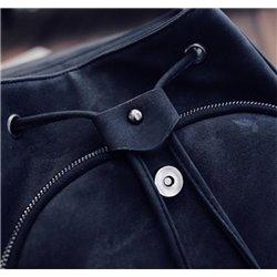 Черный рюкзак для девушки материал деним Aloha Moscow 4004