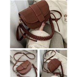 Светло коричневая сумочка через плечо материал кожа ALOHA 3009