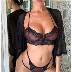 Красивое белье женское черное кружевное