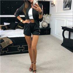 Женские костюмы пиджак с шортами повседневно деловой стиль
