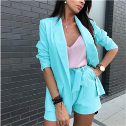Летний деловой костюм пиджак с шортами Aloha 1013