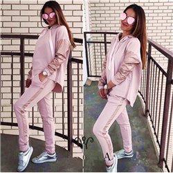 Розовый спортивный костюм Алоха штаны и джемпер с капюшоном 1014