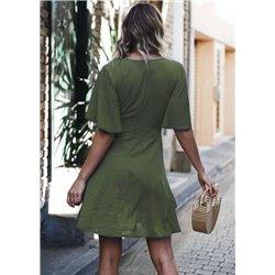 Платье с декольте для девушек ALOHA 1003 красное или оливкое