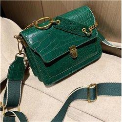 Стильные женские кожаные сумки ALOHA 3002 лакированые на вечер