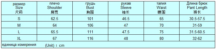Таблица размеров пижамы домашней Алоха